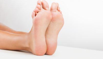 Women feet stock photo
